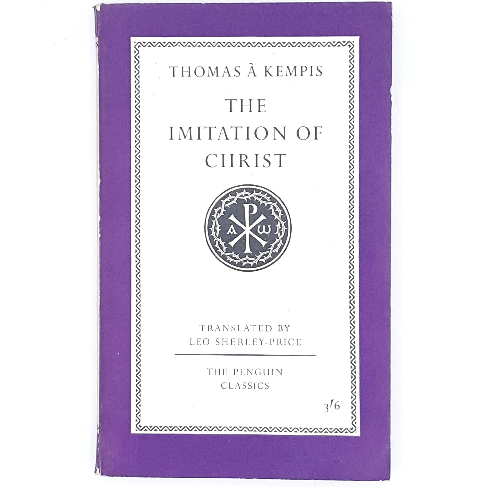 Vintage Penguin Thomas à Kempis's The Imitation of Christ 1959