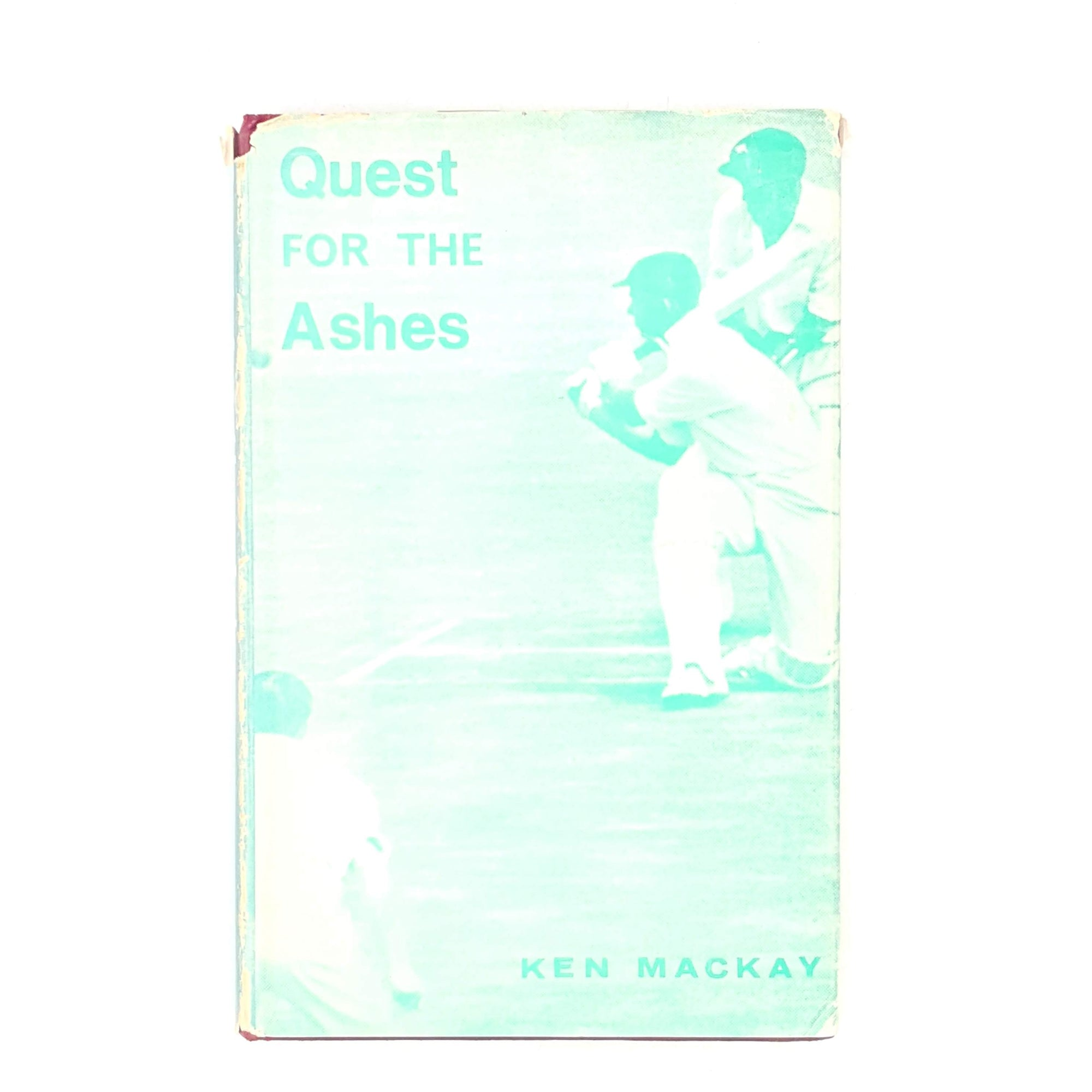 slasher-old-quest-for-the-ashes-country-house-library-vintage-1967-patterned-thrift-cricket-classic-sport-books-decorative-ken-mackay-green-ashes-antique-