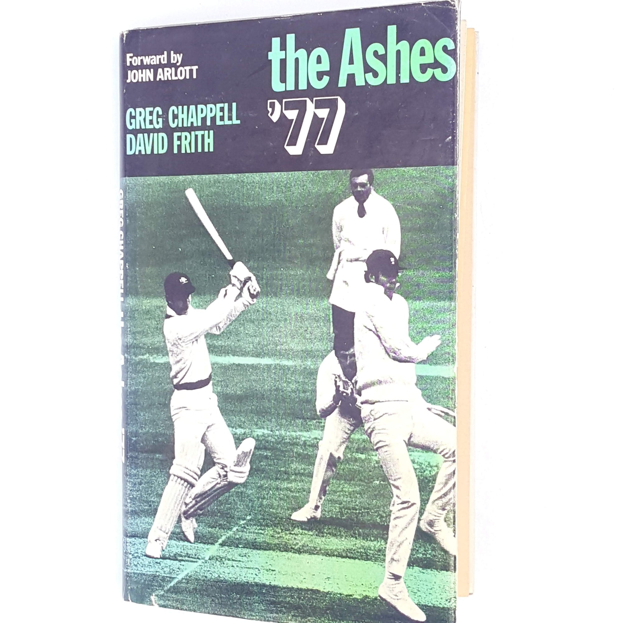 1978-books-thrift-greg-chappell-decorative-cricket-patterned-country-house-library-vintage-old-the-ashes-black-david-frith-sport-classic-antique-