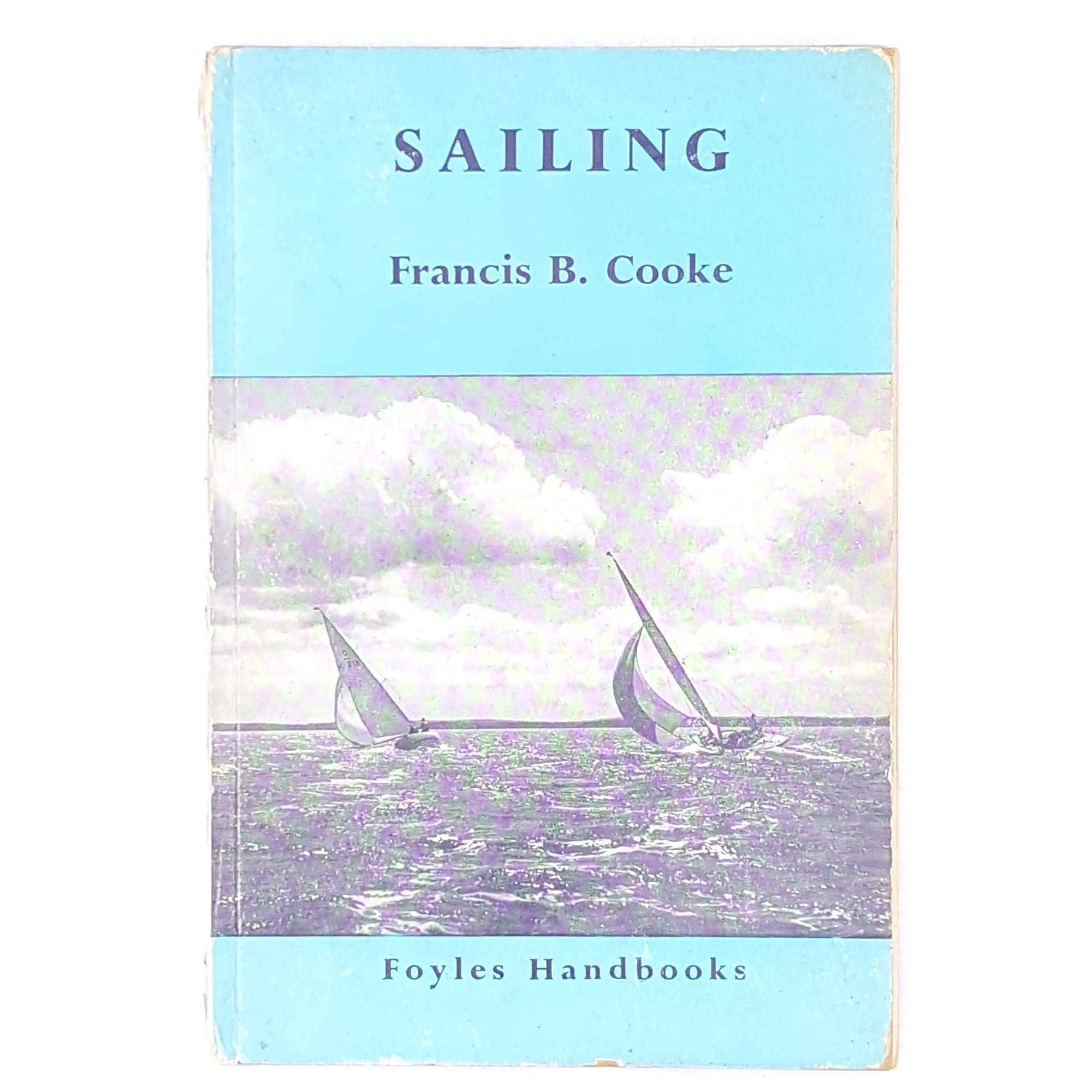sailing-decorative-vintage-classic-country-house-library-patterned-thrift-sport-1951-blue-books-foyles-handbooks-old-antique-