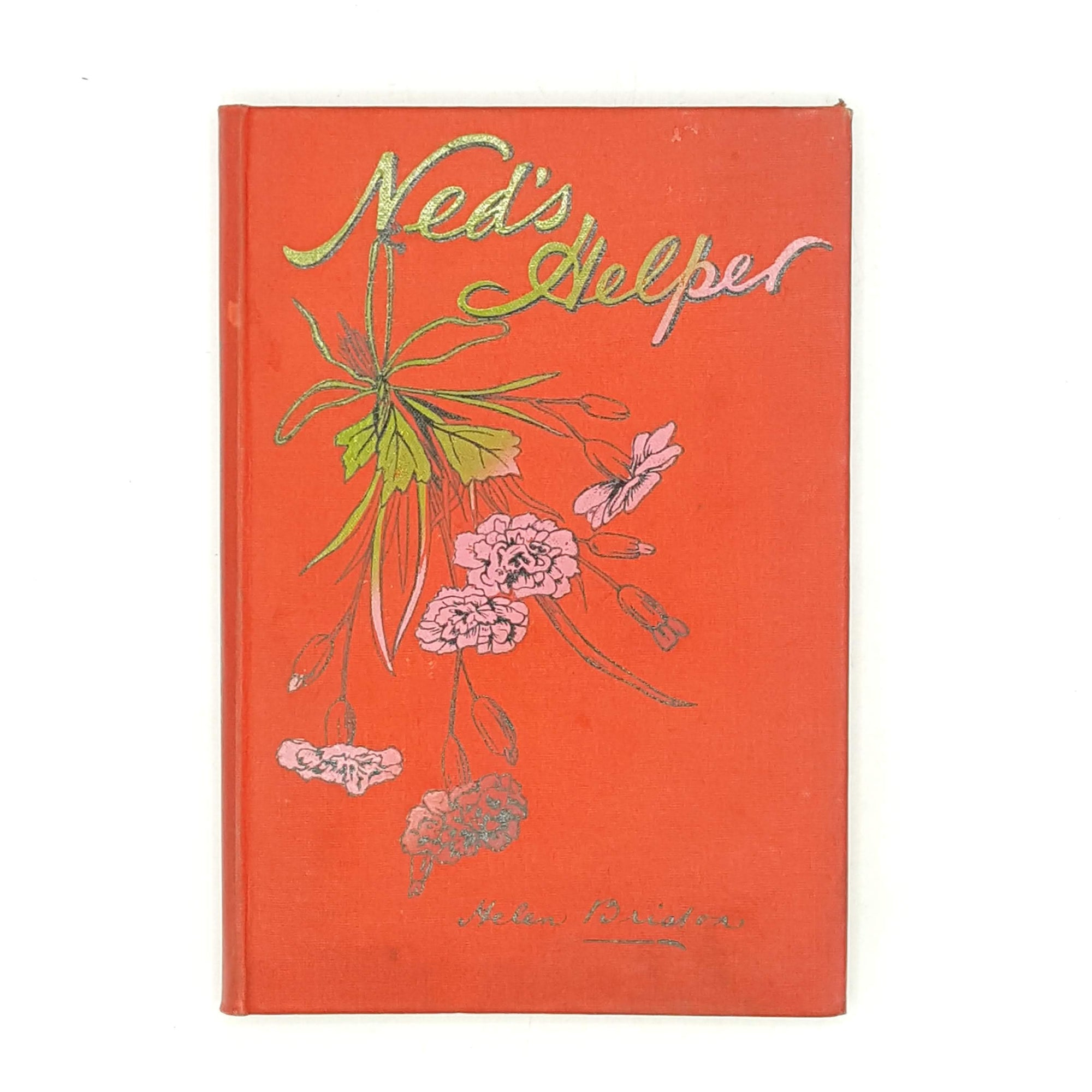 decorative-robert-culley-classic-vintage-neds-helper-plates-illustrated-old-red-helen-briston-antique-thrift-books-patterned-country-house-library-