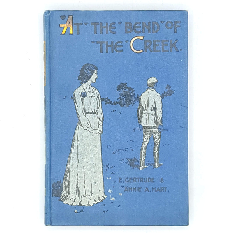 country-house-library-blue-vintage-thrift-patterned-antique-bend-of-the-creek-australia-decorative-e-gertrude-classic-annie-a-hart-books-old-