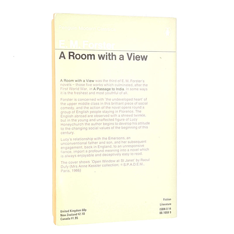 E. M. Forster's A Room With A View Penguin Modern Classics Edition 1976