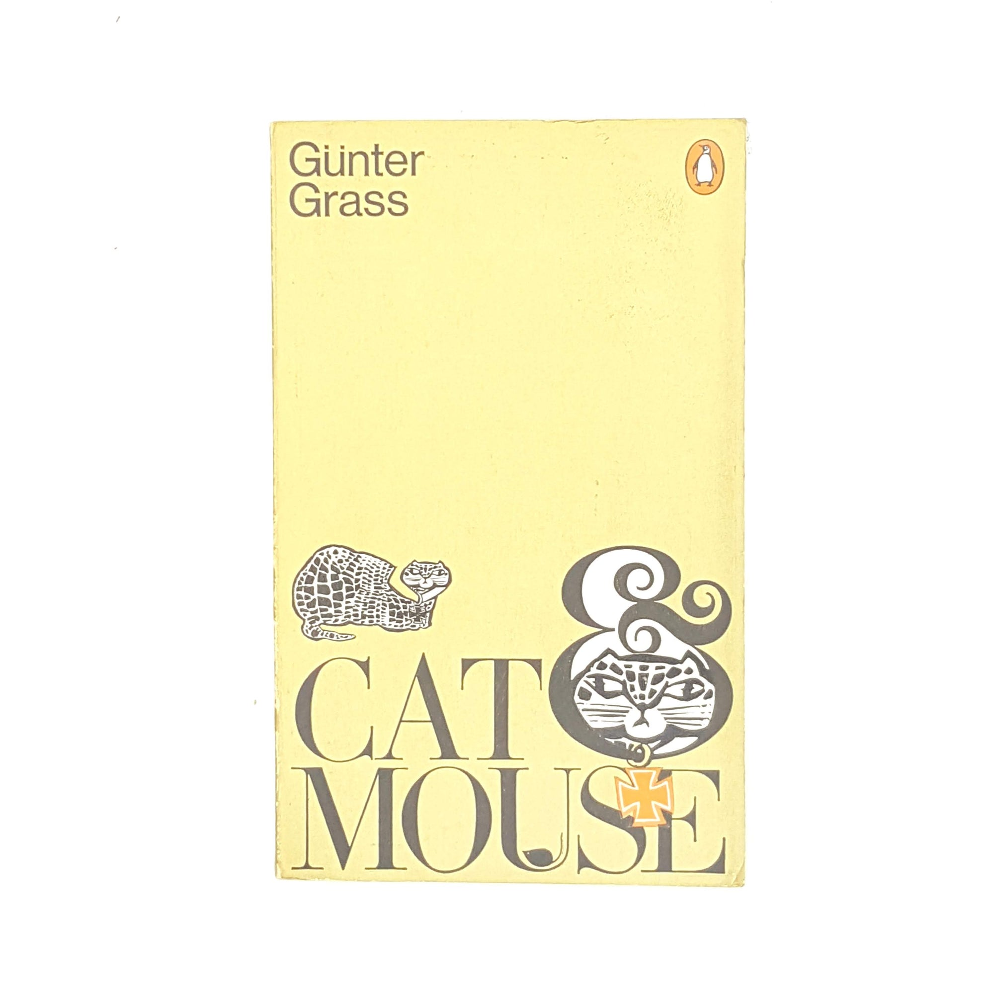 cat-and-mouse-country-house-library-decorative-vintage-thrift-penguin-gold-classic-patterned-gunter-grass-old-1971-books-antique-