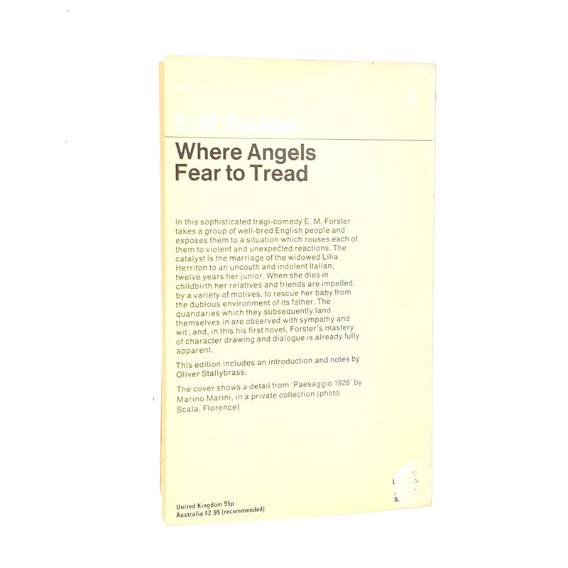 E. M. Forster's Where Angels Fear to Tread Penguin Modern Classics 1979