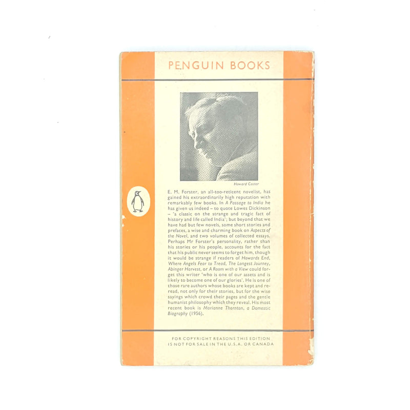 patterned-thrift-vintage-classic-country-house-library-old-1960-books-orange-em-forster-antique-where-angels-fear-to-tread-decorative-penguin-