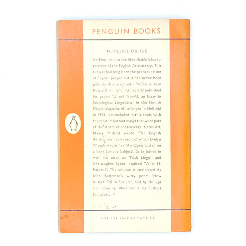 patterned-nancy-mitford-antique-decorative-old-noblesse-oblige-books-classic-thrift-vintage-penguin-1959-country-house-library-orange-