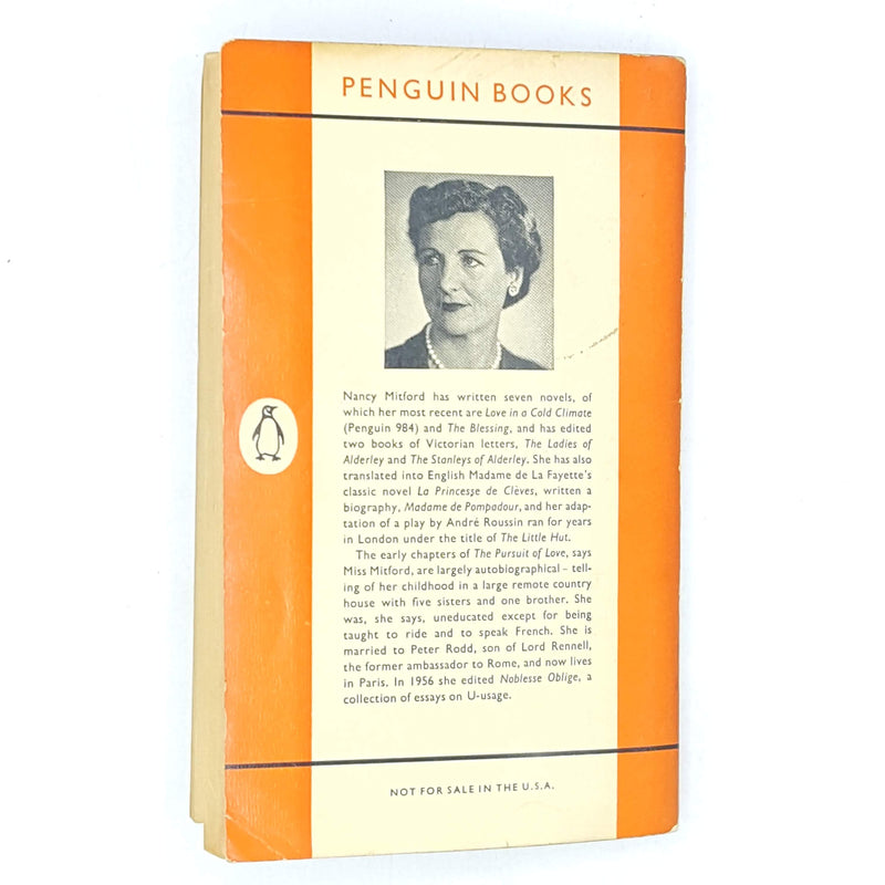 books-classic-country-house-library-penguin-old-patterned-thrift-vintage-the-blessing-nancy-mitford-orange-antique-decorative-1957-