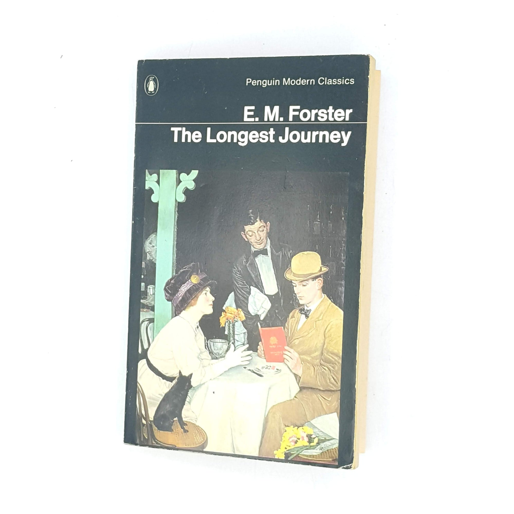 the-longest-journey-old-decorative-patterned-vintage-1973-classic-em-forster-thrift-country-house-library-antique-modern-classics-penguin-books-