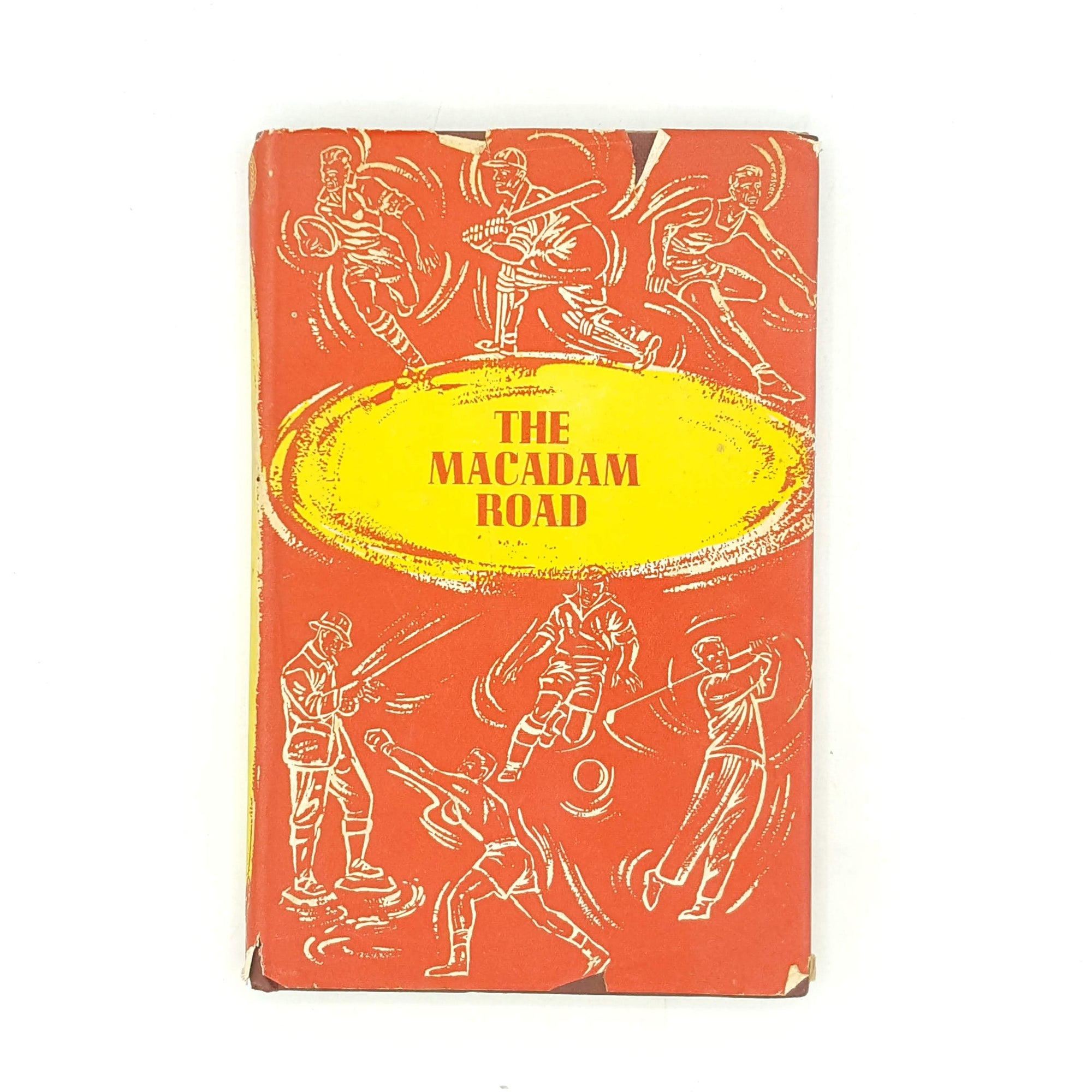 john-macadam-vintage-farrolds-old-country-house-library-books-thrift-patterned-1957-decorative-red-the-sportsman-book-club-the-macadam-road-antique-illustrations-