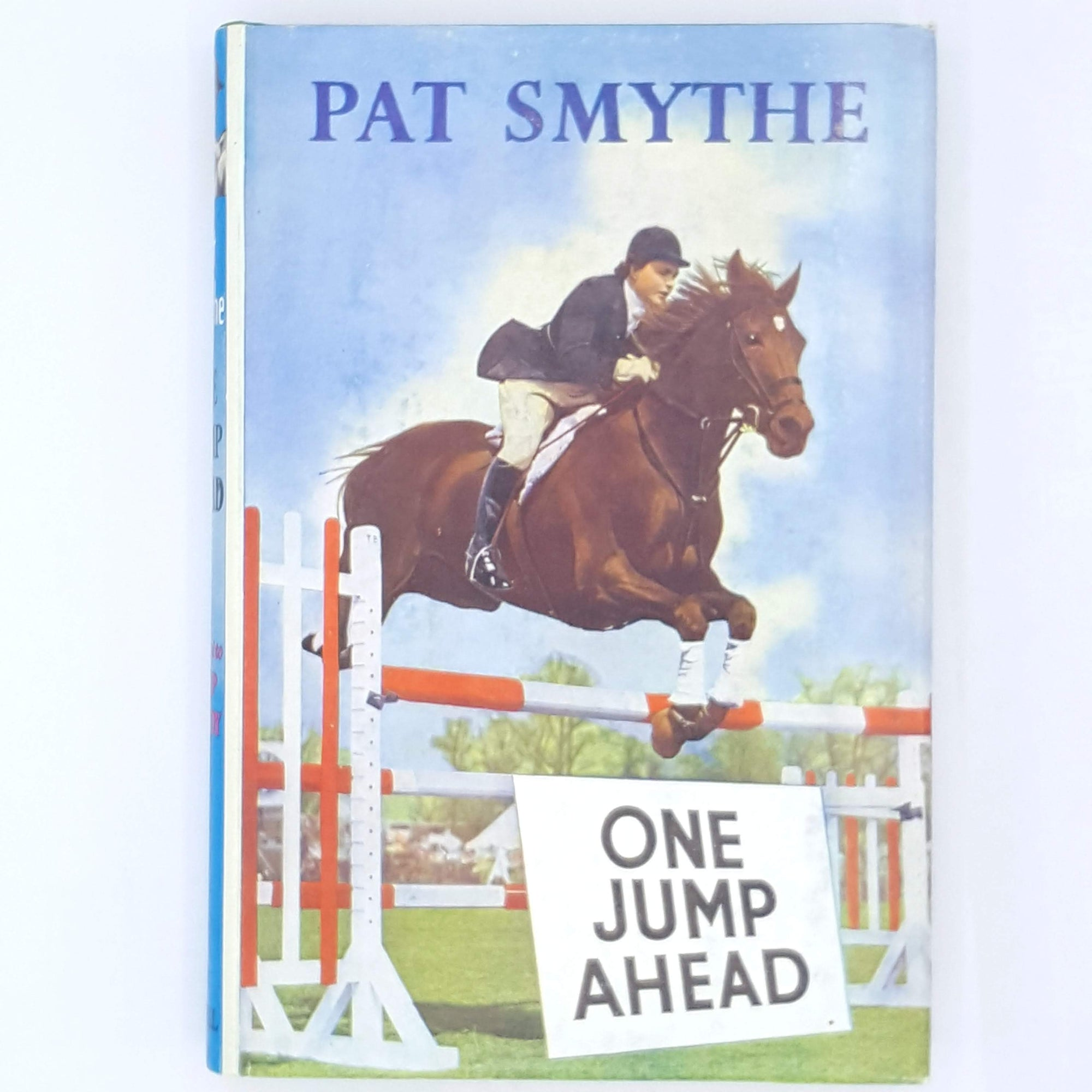 country-house-library-classic-1956-antique-books-thrift-Horses-Pat-Smythe-Cassell-patterned-old-decorative-vintage-Equestrian-One-Jump-Ahead-