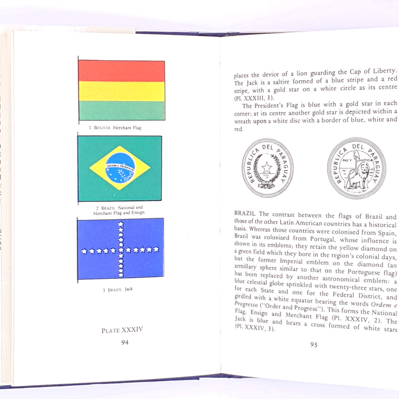 Observer-flags-guide-vexillology-decorative-vintage-old-country-house-library-thrift-I-O-Evans-classic-antique-Pocket-1975-patterned-books-