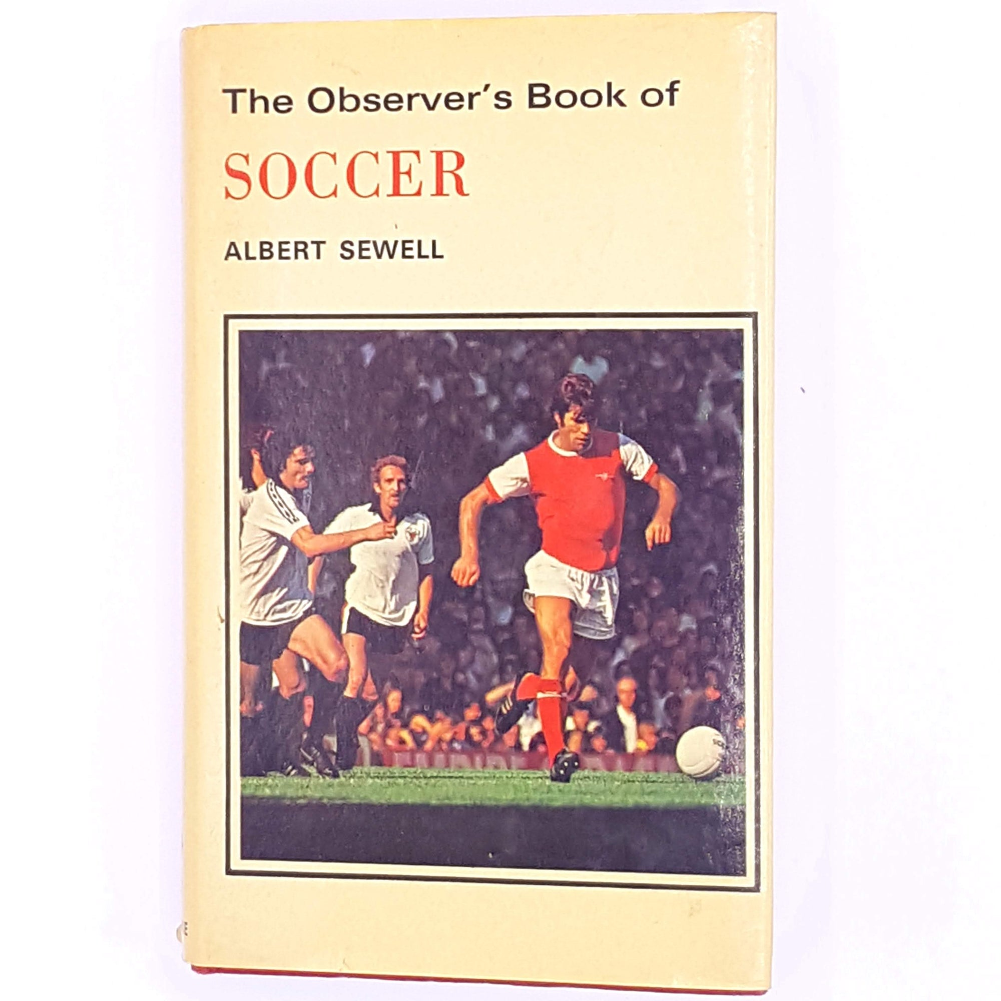 soccer-observer-books-antique-vintage-decorative-classic-football-albert-sewell-thrift-patterned-country-house-library-old-fourth-edition-