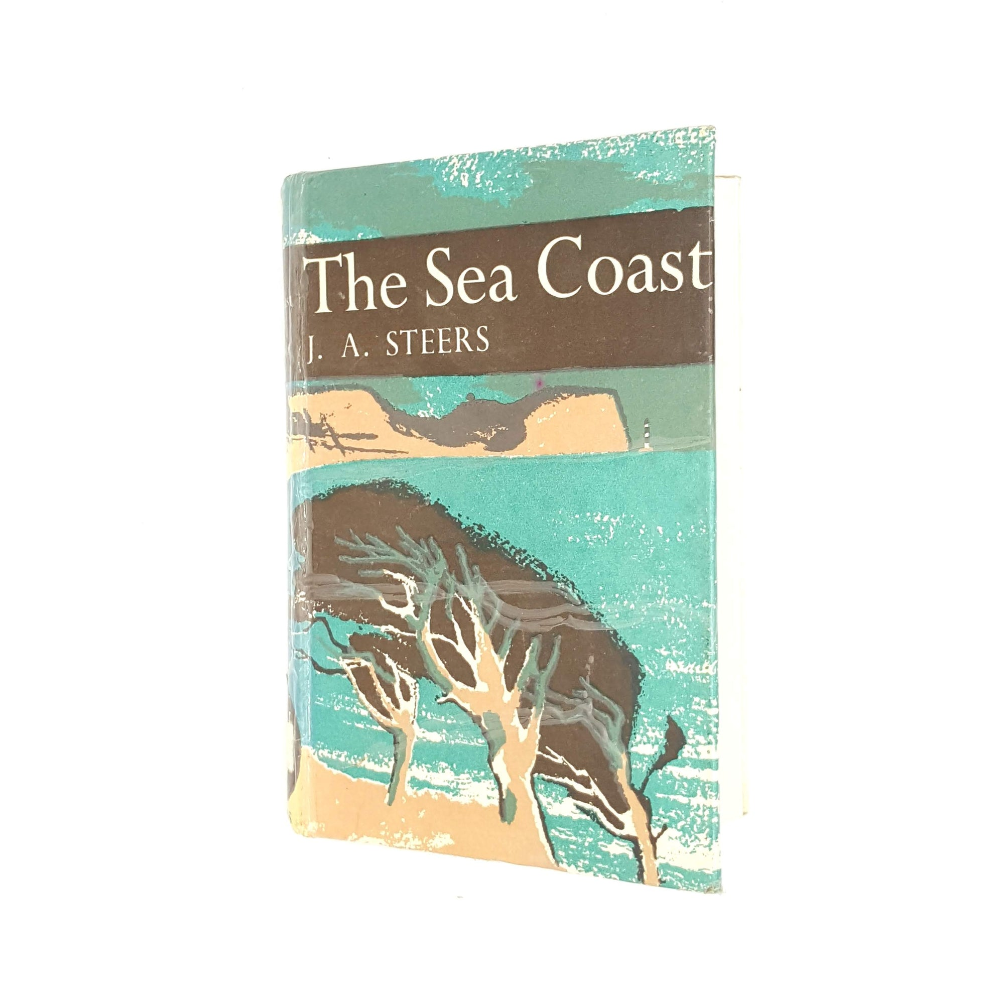 1972-country-house-library-patterned-classic-books-decorative-j-a-steers-the-sea-coast-antique-hardcover-collins-vintage-thrift-old-