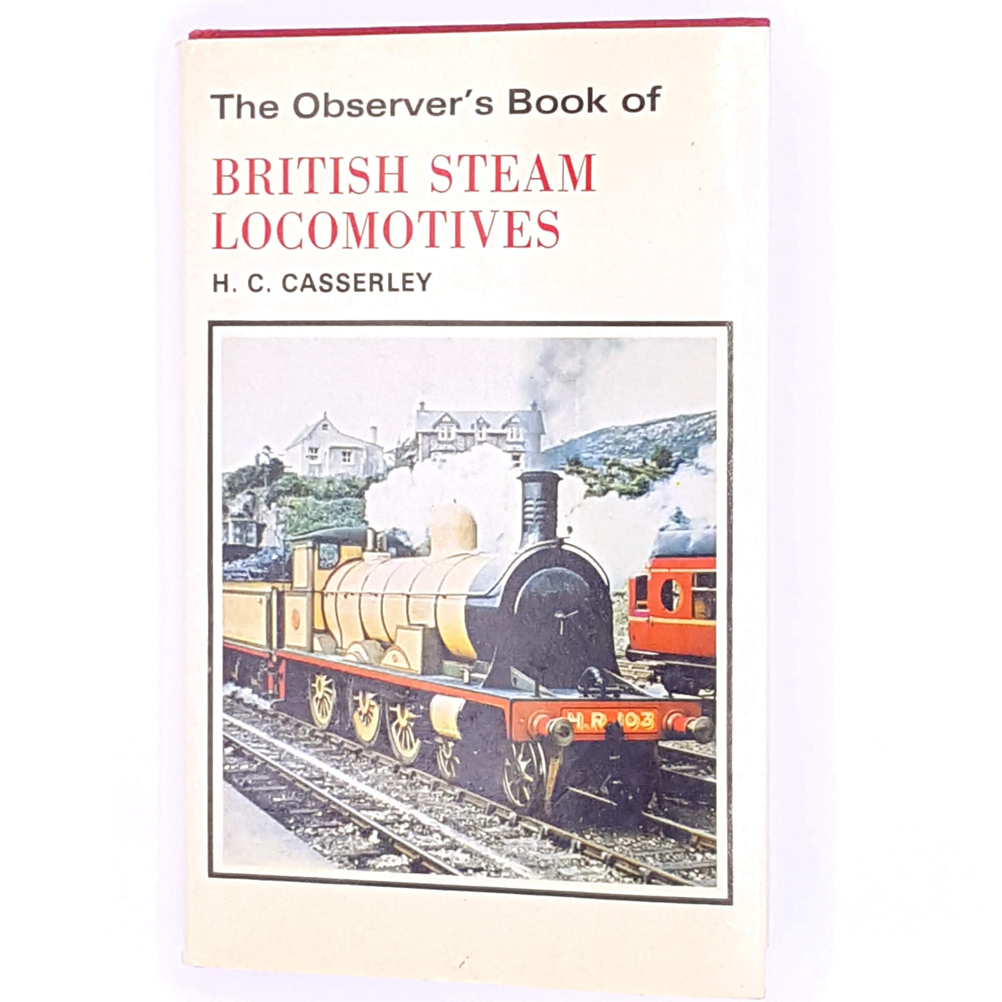 classic-books-old-country-house-library-observer-H-C-Casserley-thrift-vintage-trains-decorative-pocket-antique-british-steam-locomotives-railway-patterned-guide-