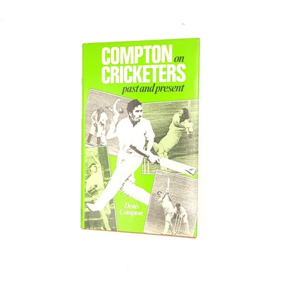 compton-on-cricketers-past-and-present-cassell-decorative-patterned-thrift-1981-antique-books-readers-union-group-of-book-clubs-denis-compton-classic-country-house-library-green-old-vintage-
