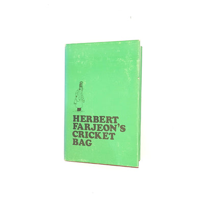 classic-country-house-library-decorative-1969-green-herbert-farjeon's-cricket-bag-thrift-antique-vintage-illustrated-patterned-old-books-sportsmans-book-club-