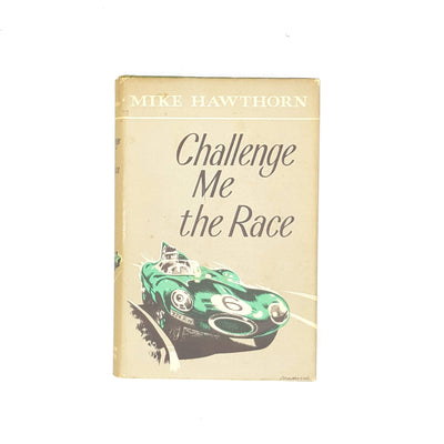 thrift-decorative-illustrations-classic-1958-patterned-vintage-mike-hawthorn-old-william-kimber-grey-challenge-me-the-race-country-house-library-antique-books-