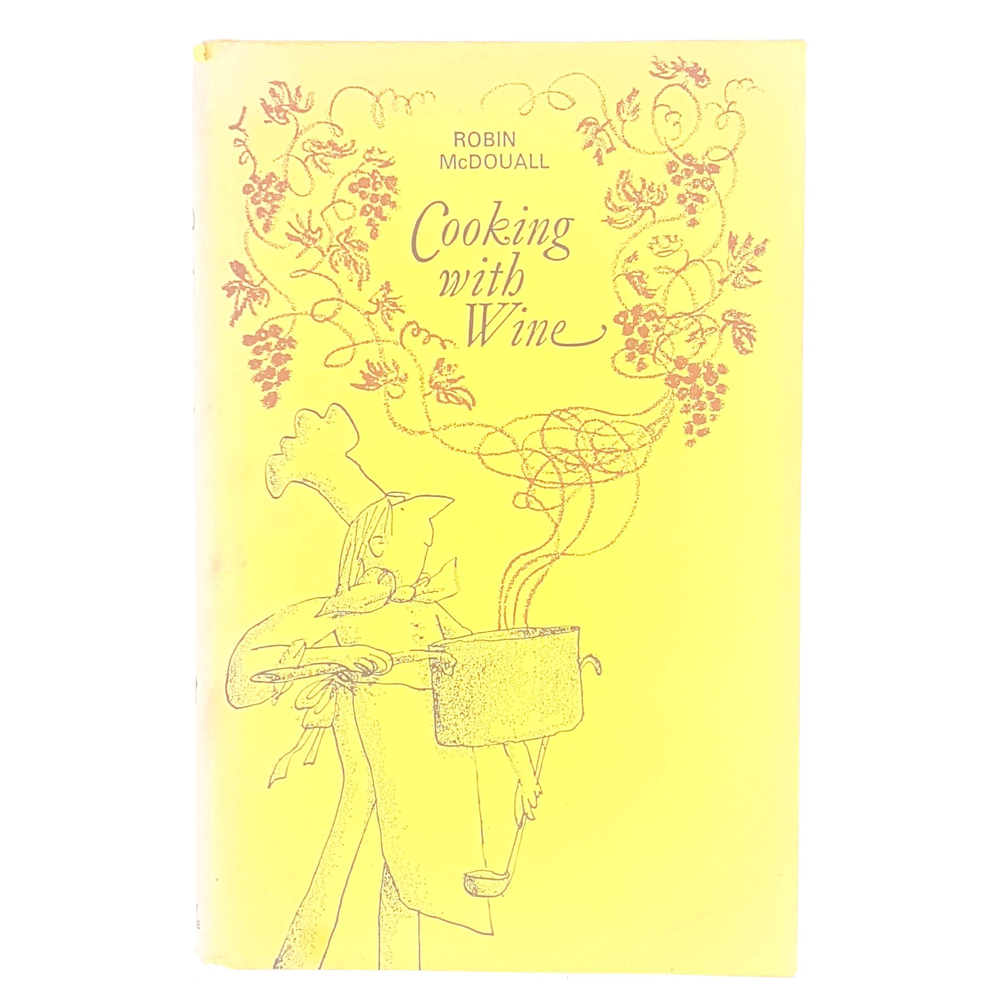 antique-cooking-with-wine-cook-books-robin-mcdouall-classic-thrift-cookery-book-club-1968-patterned-books-decorative-vintage-old-country-house-library-