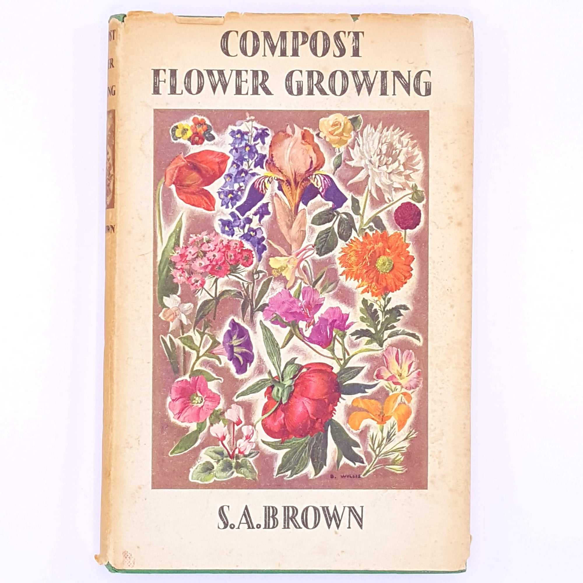 decorative-gardening-thrift-flower-old-country-house-library-antique-classic-gardeners-floral-christmas-gifts-compost-books-patterned-vintage-