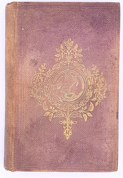decorative-illustrated-1800-warne-goldsmith-vintage-old-poetry-routledge-1861-antique-country-house-library-classic-books-thrift-patterned-