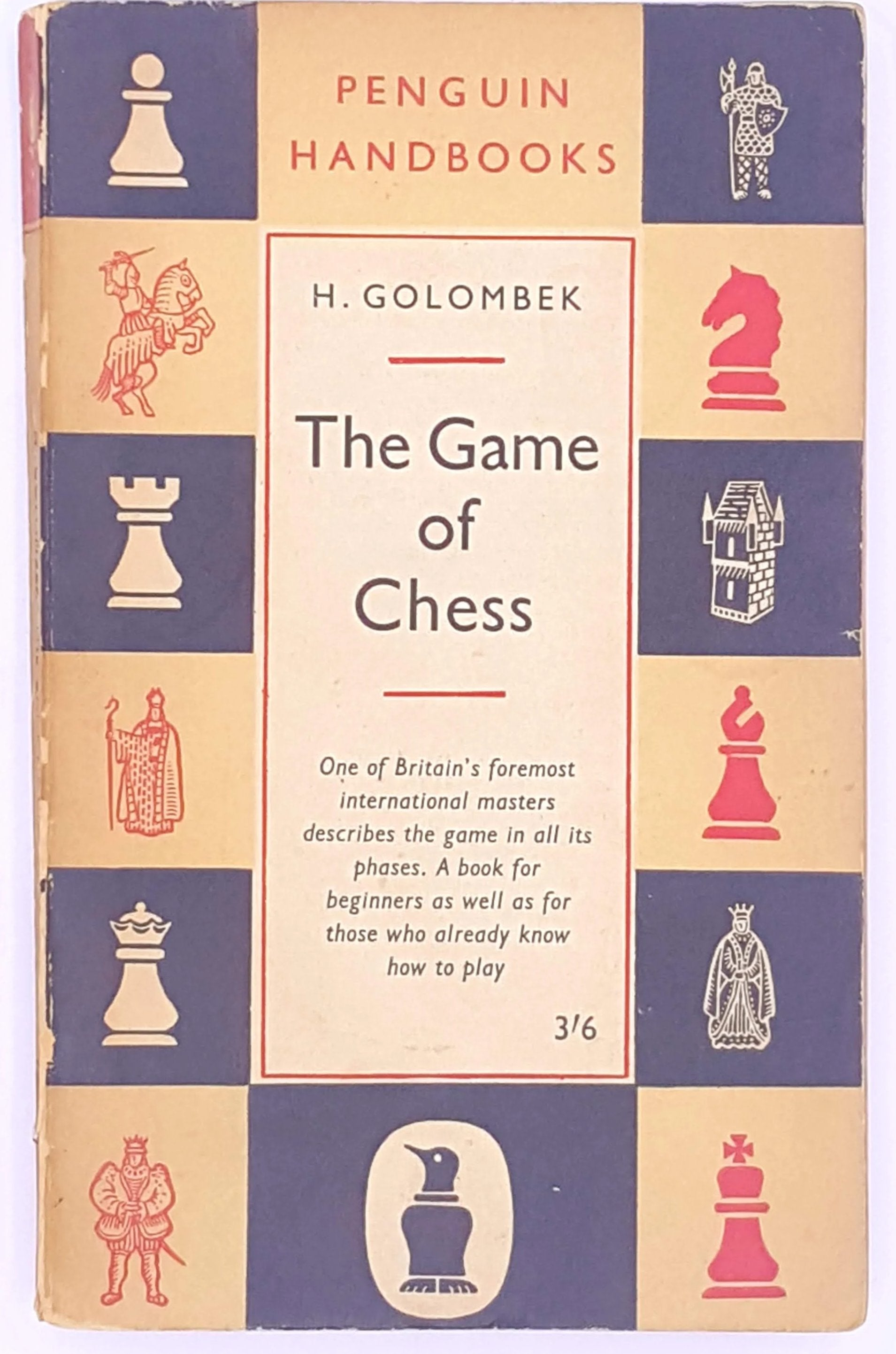 classic-antique-the-game-of-chess-christmas-gifts-decorative-H-golombek-thrift-books-patterned-vintage-penguin-old-country-house-library-