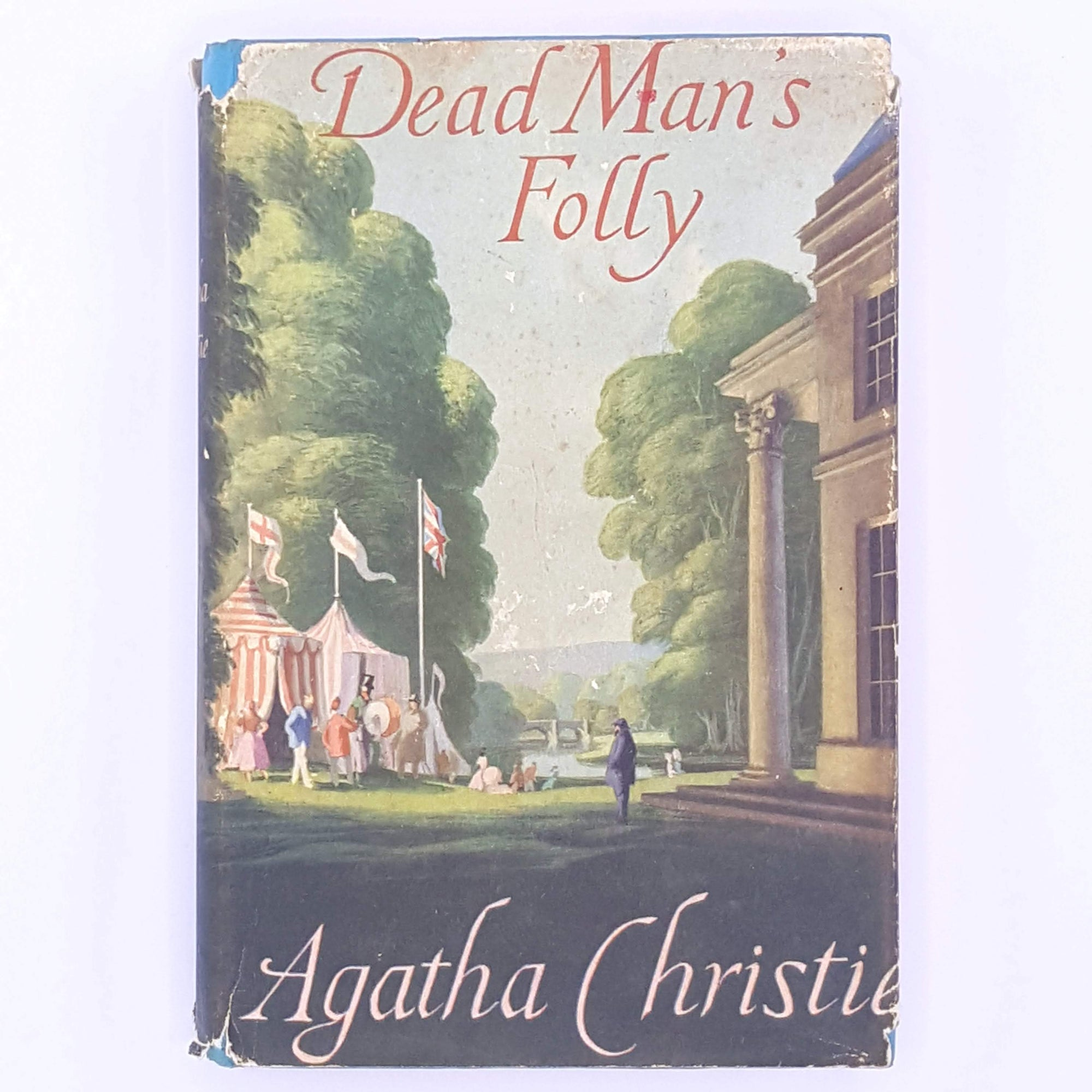 classic-christmas-gifts-books-country-house-library-vintage-dead-mans-folly-old-for-her- agatha-christie-patterned-thrift-antique-decorative-