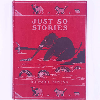 classic-for-kids-rudyard-kipling-illustrated-by-author-patterned-country-house-library-books-antique-just-so-stories-vintage-christmas-gifts-old-decorative-thrift-