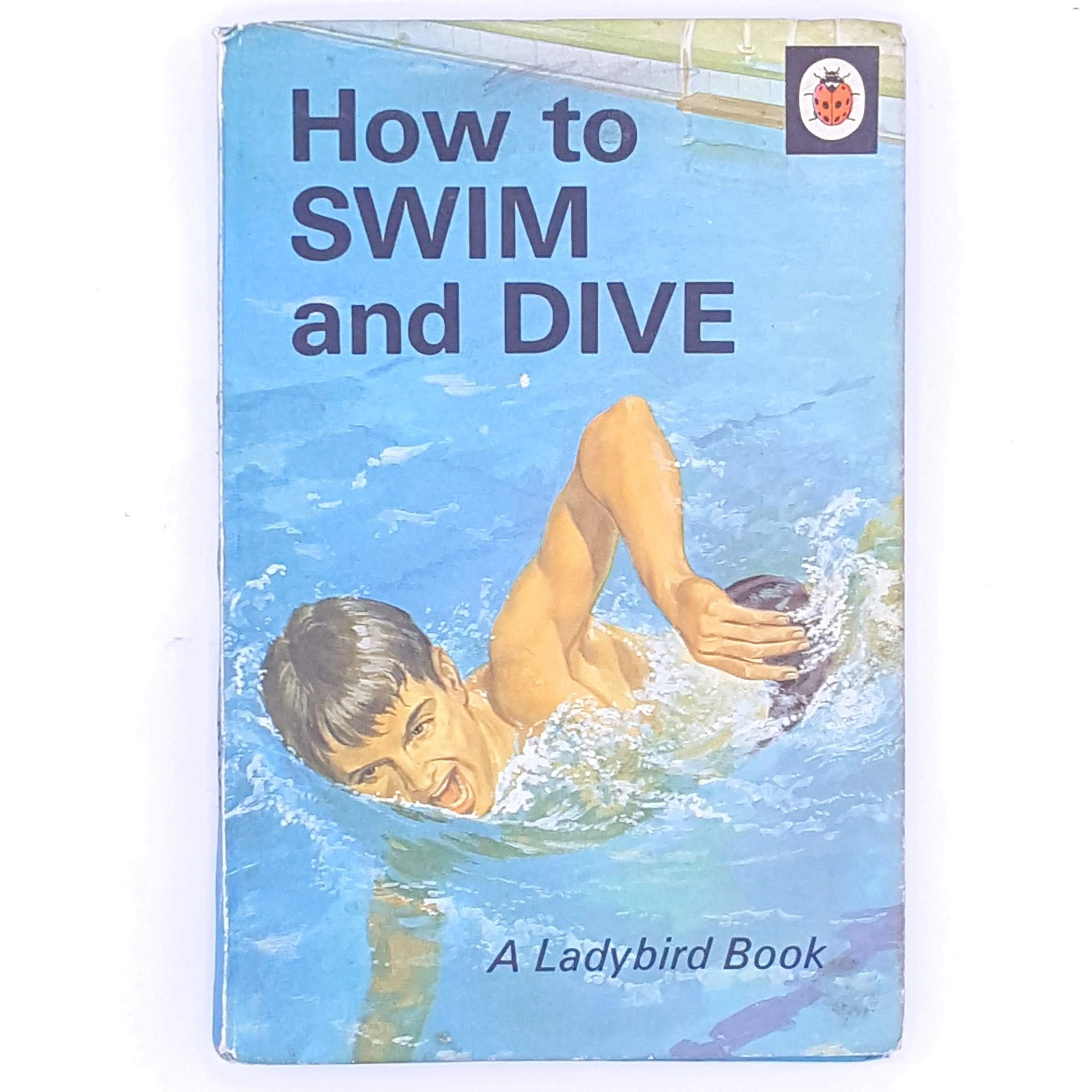 vintage-swimming-classic-swim-ladybird-books-betterment-health-swimming-pool-patterned-decorative-thrift-christmas-gifts-wellbeing-antique-old-country-house-library-water-