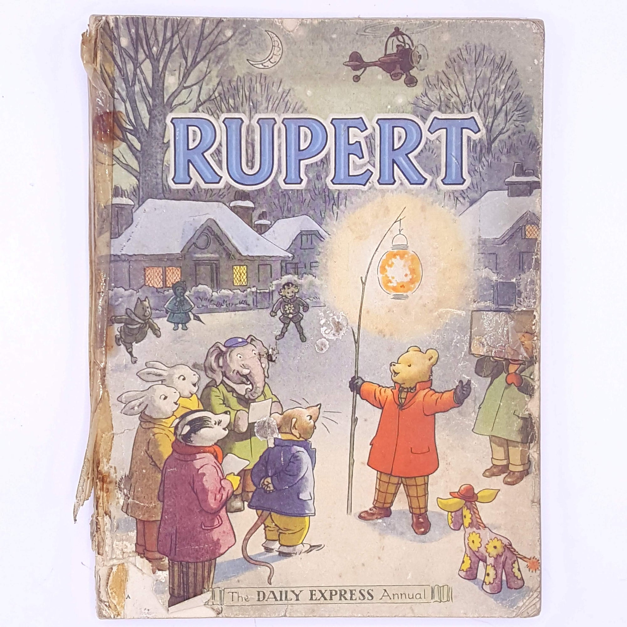 rupert-patterned-antique-rupert-the-bear-thrift-annual-classic-books-vintage-for-kids-old-decorative-christmas-gifts-country-house-library-