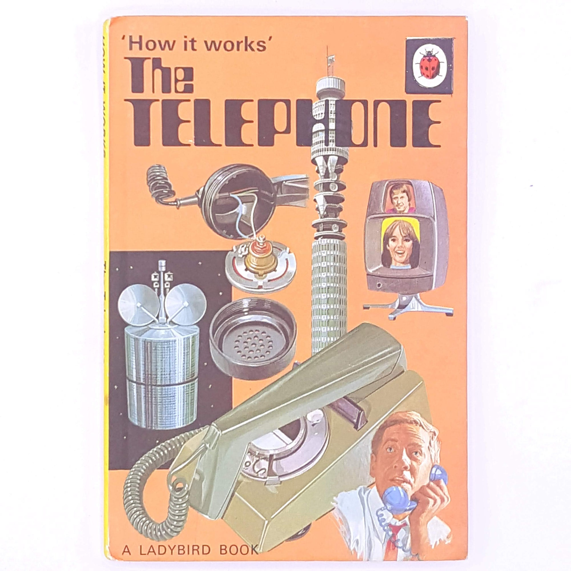 classic-how-it-works-series-old-the-telephone-country-house-library-books-ladybird-childrens-stories-antique-decorative-thrift-vintage-christmas-gifts-for-kids-patterned-