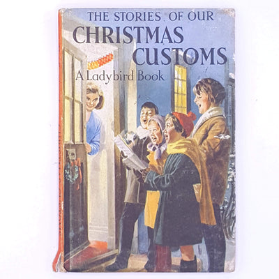 childrens-stories-vintage-decorative-country-house-library-for-kids-christmas-gifts-the-stories-of-our-christmas-customs-patterned-antique-books-old-ladybird-classic-thrift-