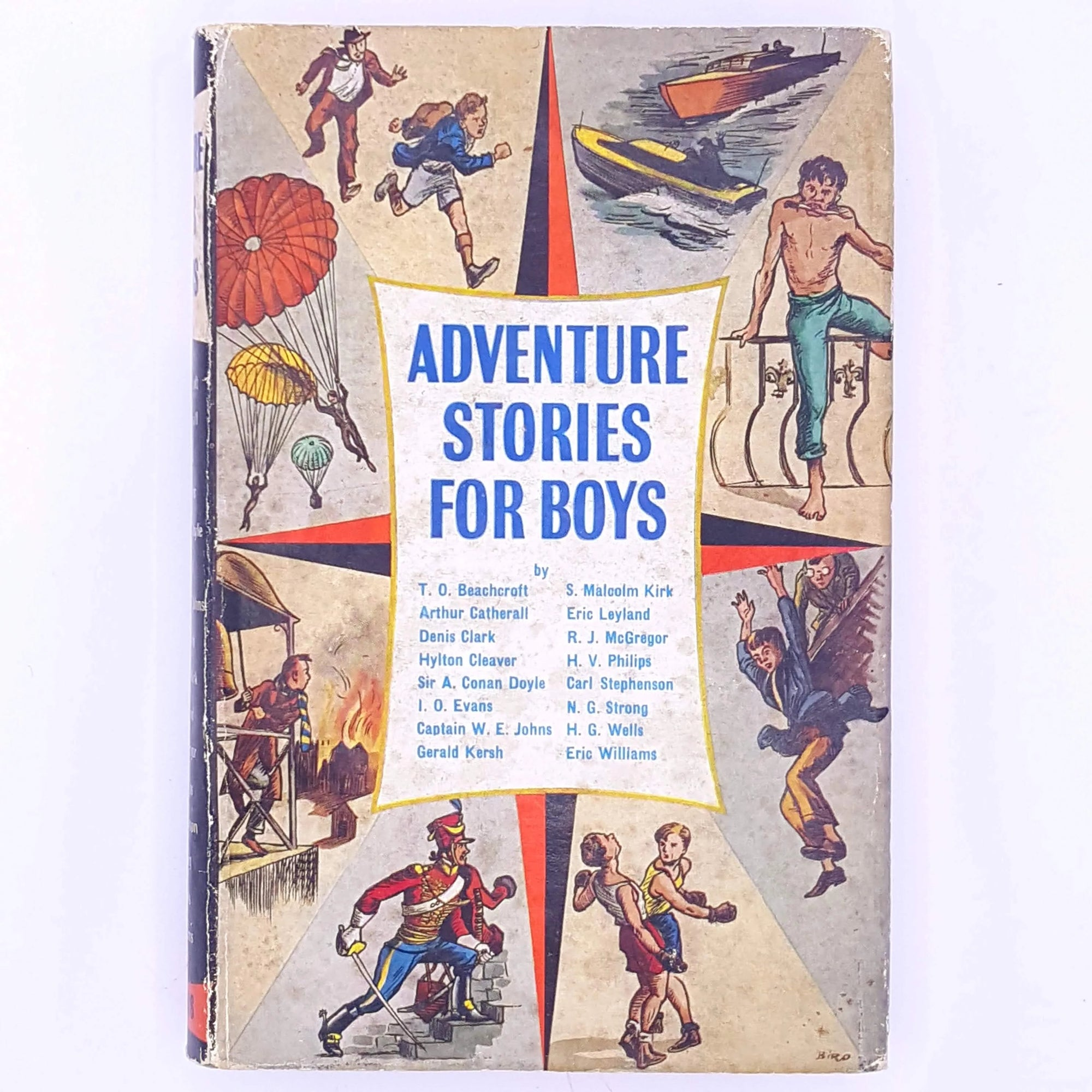 for-kids-thrift-old-antique-Adventure-stories-For-Boys-decorative-patterned-books-childrens-stories-country-house-library-christmas-gifts-vintage-classic-