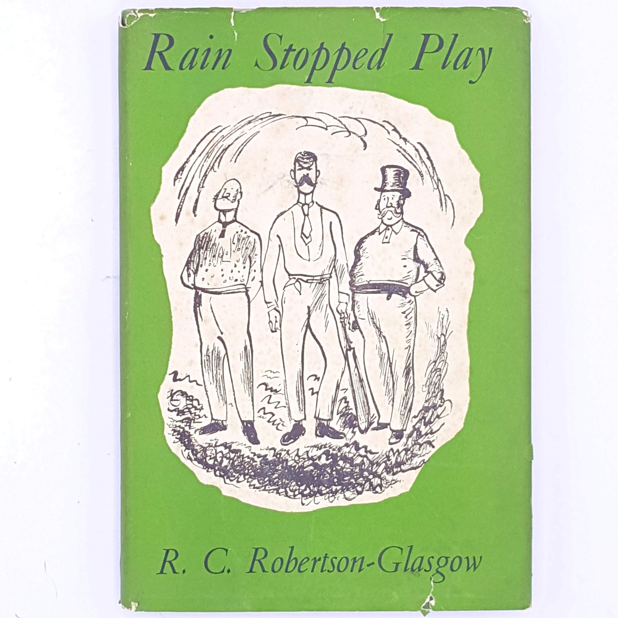 old-antique-patterned-thrift-rain-stopped-play-country-house-library-books-for-him-vintage-christmas-gifts-decorative-for-sports-fans-classic-cricket-sport-