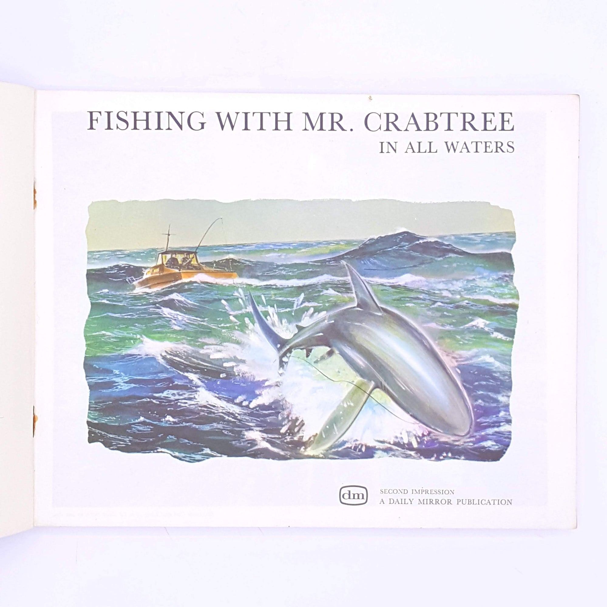 patterned-for-sports-fans-old-books-fish-antique-christmas-gifts-vintage-thrift-sport-country-house-library-decorative-angling-classic-Fishing-with-Mr-Crabtree-in-all-waters-fishing-for-him-