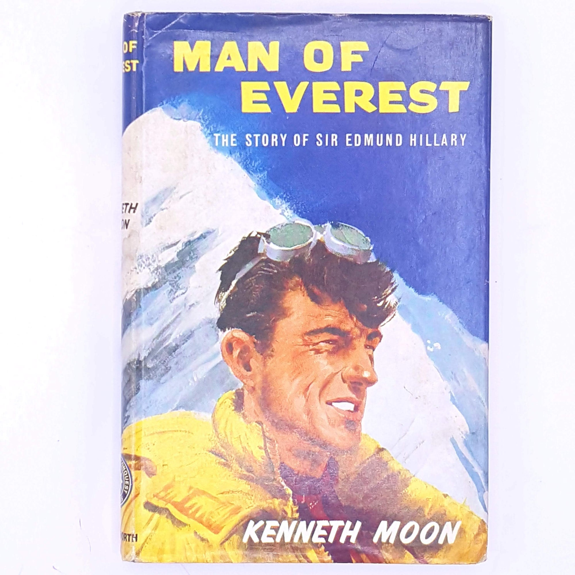 adventure- antique-sport-books-old-patterned-The-Story-Of-Sir-Edmund-Hillary-mountain-vintage-christmas-gifts-for-him-man-of-everest-country-house-library-thrift-decorative-classic-kenneth-moon-