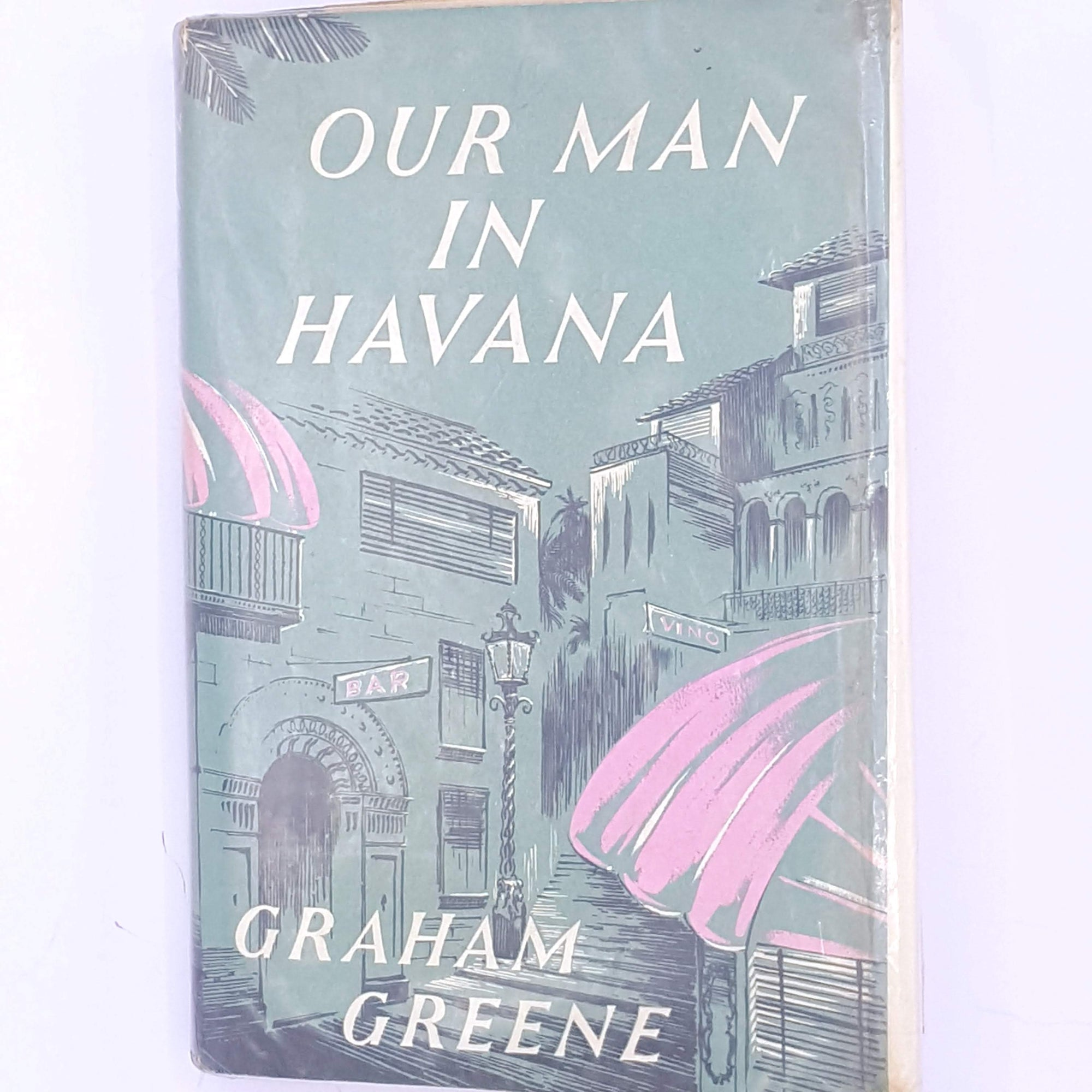 mystery-decorative-secret-agent-sport-patterned-for-him-books-Graham-Greene-old-antique-secret-service-our-man-in-havana-christmas-gifts-classic-vintage-crime-thrift-country-house-library-