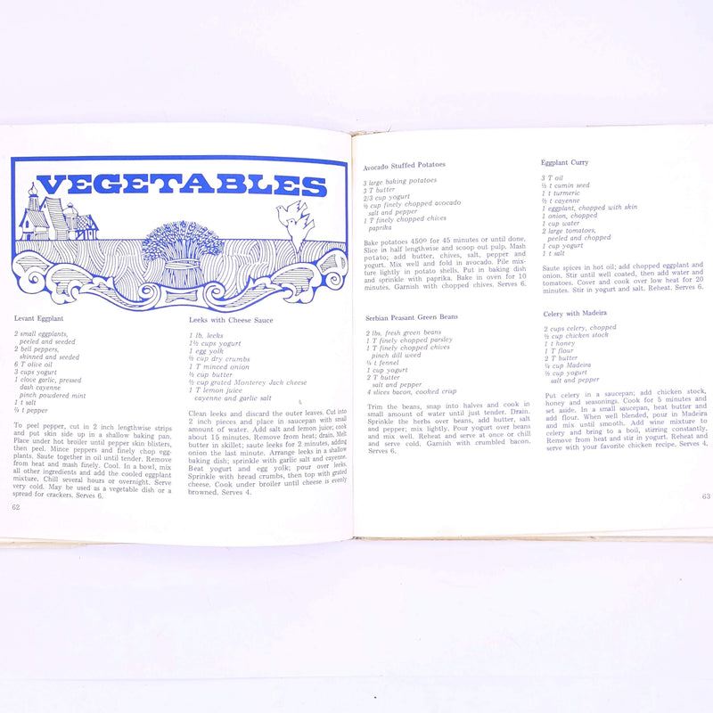 The Complete Yogurt Cookbook By Karen Cross White, 1970