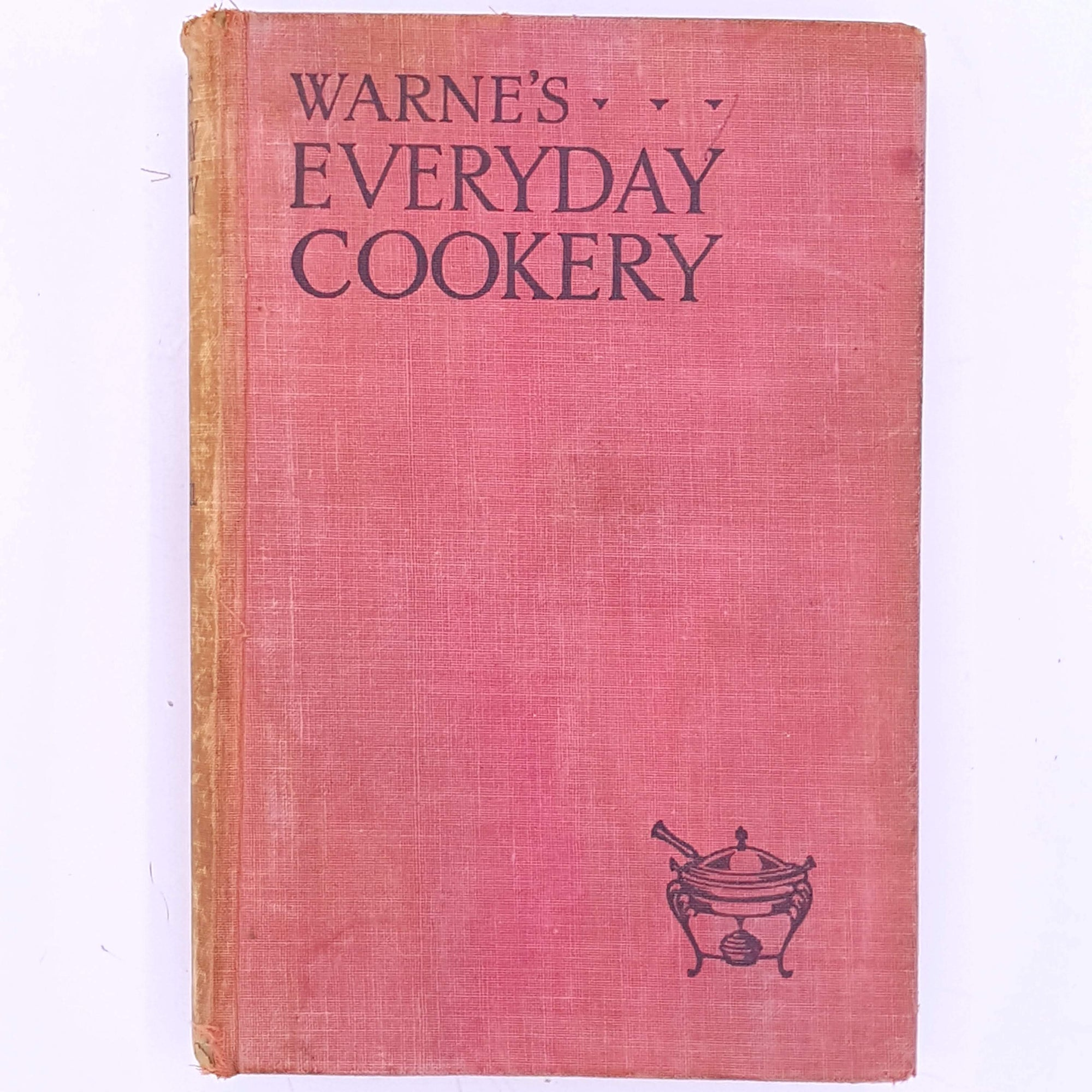 antique-old-cookbooks-baking-patterned-decorative-Warne's-Everyday-Cookery-Mrs-Mabel-Wijey-christmas gifts-thrift-recipes-cooking-vintage-for foodies-country-house-library-classic-books-