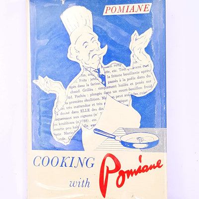 vintage-recipes-decorative-antique-dinner-country-house-library-books-baking-cooking-thrift-old-cookbook-Cooking-with-Pomiane-patterned-hobby-classic-tea-