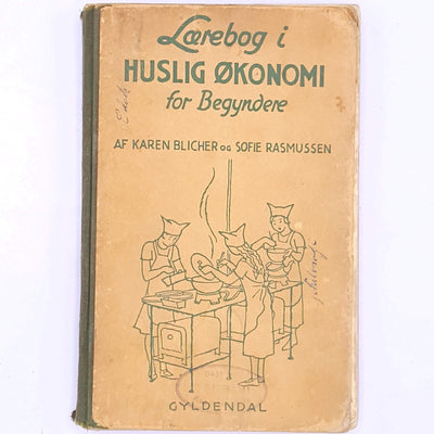 decorative-patterned-antique-books-vintage-thrift-country-house-library-old-classic-textbook-in-domestic-economy-for-beginners-lærebog-i-huslig-økonomi-for-begyndere-