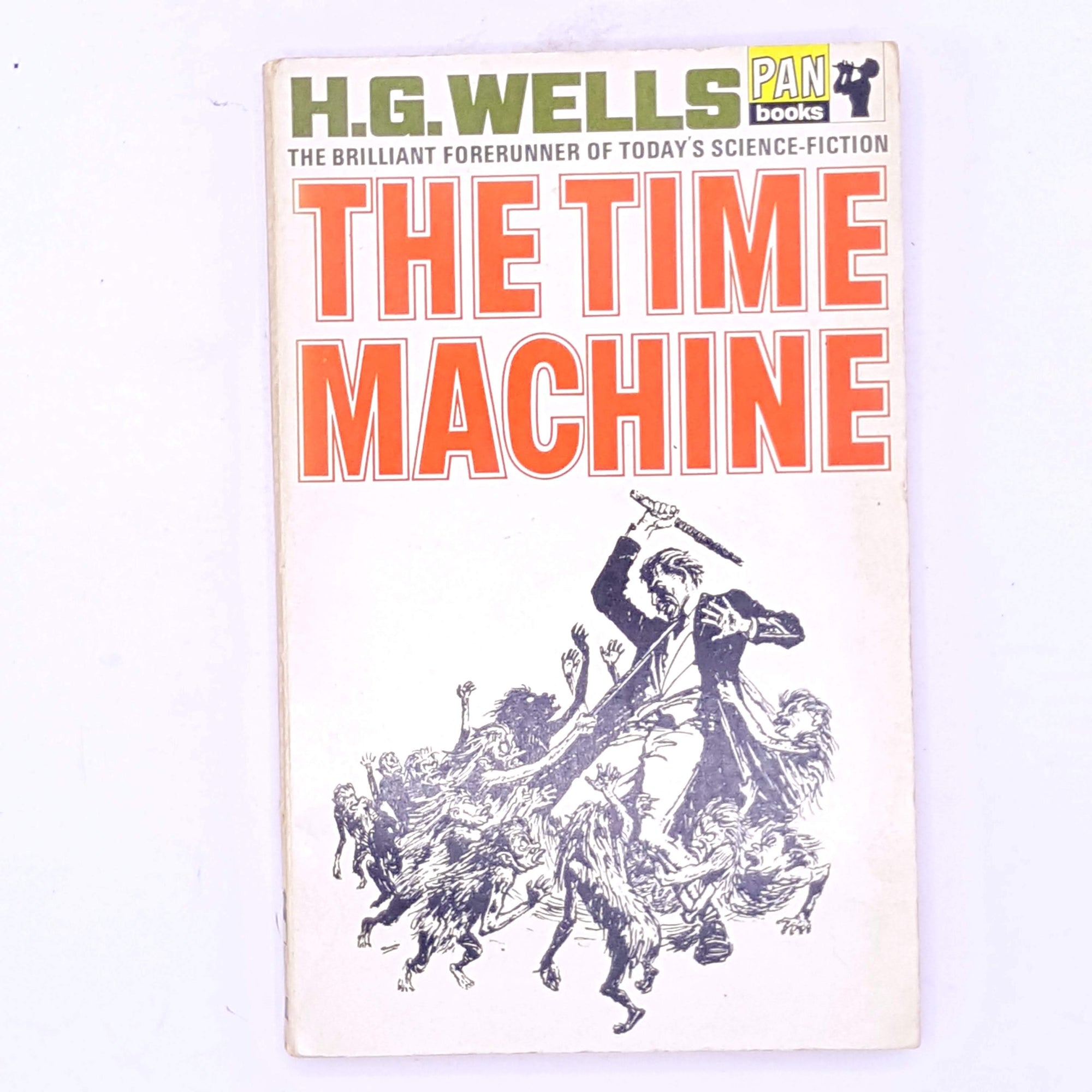 science-fiction-patterned-antique-decorative-short-stories-old-vintage-thrift-The-Time-Machine-short-story-books-classic-H.G.-Wells- country-house-library-
