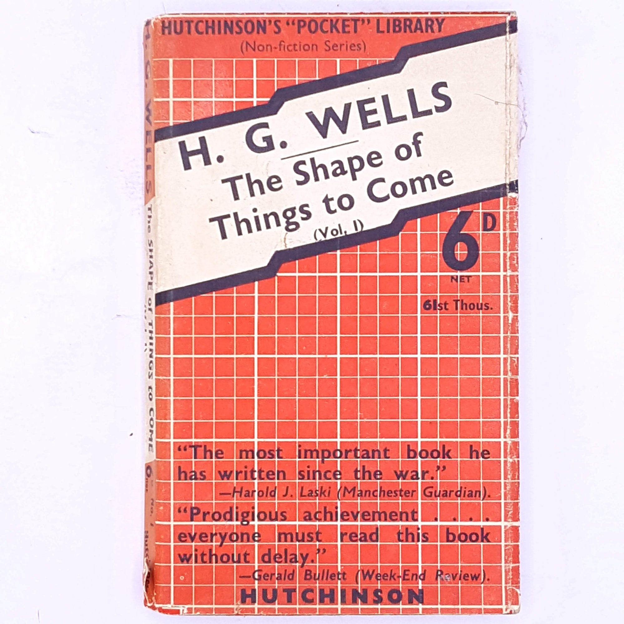 vintage-classic-The-Shape-of-Things-to-Come-antique-books-H.G.-Wells- decorative-short-stories- country-house-library-patterned-thrift-old-short-story-science-fiction-