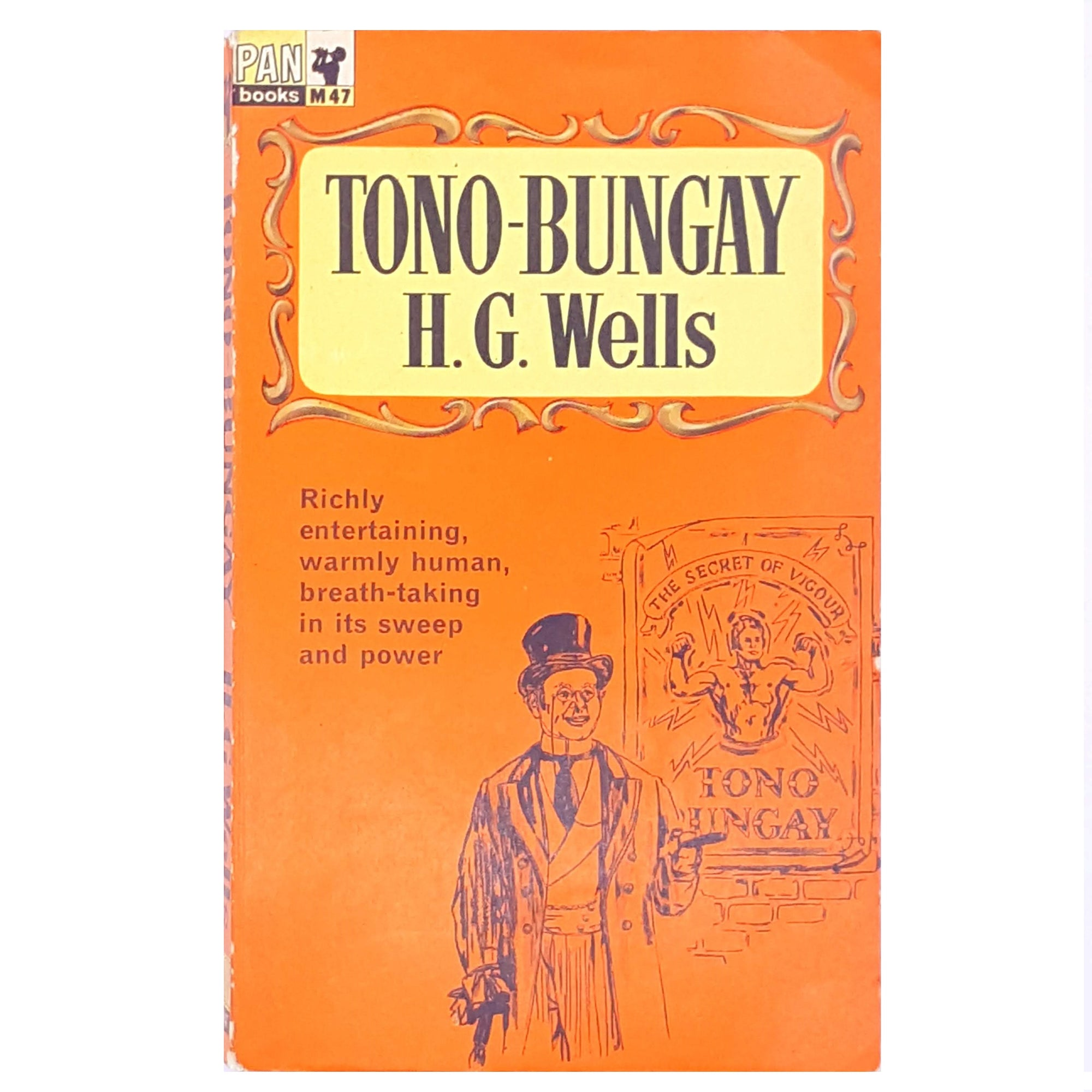vintage-classic-antique-books-H.G.-Wells- decorative-short-stories- country-house-library-patterned-thrift-old-short-story-science-fiction-Tono-Bungay-