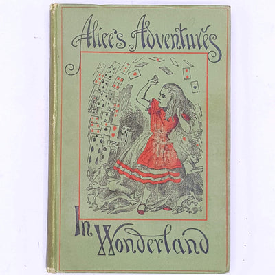 patterned-decorative-classic-thrift-old-vintage-alices-adventures-in-wonderland-lewis-carroll-1896-illustrated-country-house-library-books-antique-