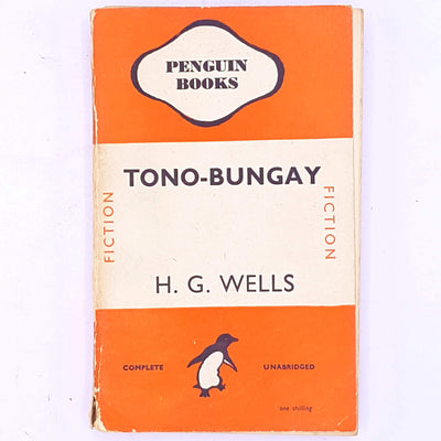 classic-patterned-books-vintage-decorative-penguin-hg-wells-antique-tono-bungay-old-science-fiction-thrift-fantasy-country-house-library-