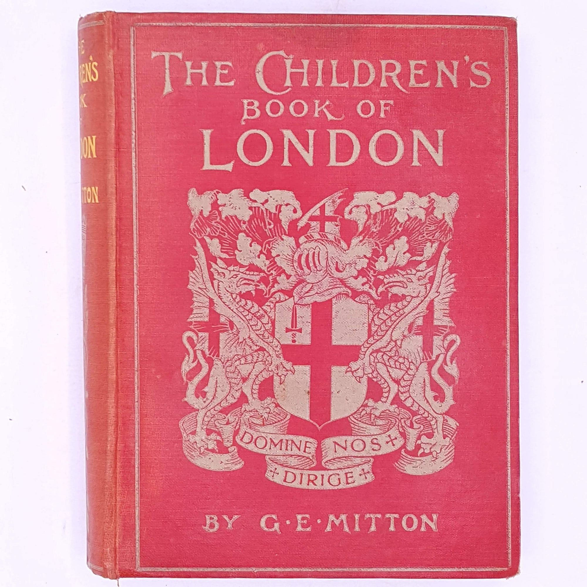 london-england- decorative-classic-antique-thrift-country-house-library-patterned-old-uk-The-Childrens-Book-Of-London-By-G.E.-Mitton-vintage-books-