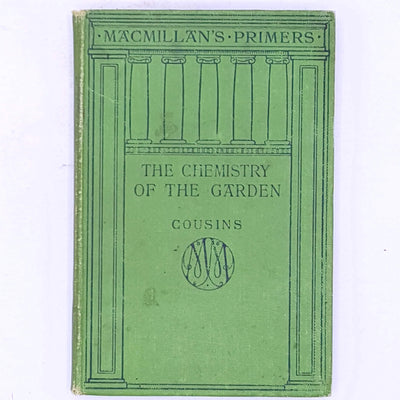 vintage-old-books-garden-country-house-library-food-production- classic-decorative-antique-The-Chemistry-Of-The-Garden-science-chemistry- Gardening-thrift-patterned-