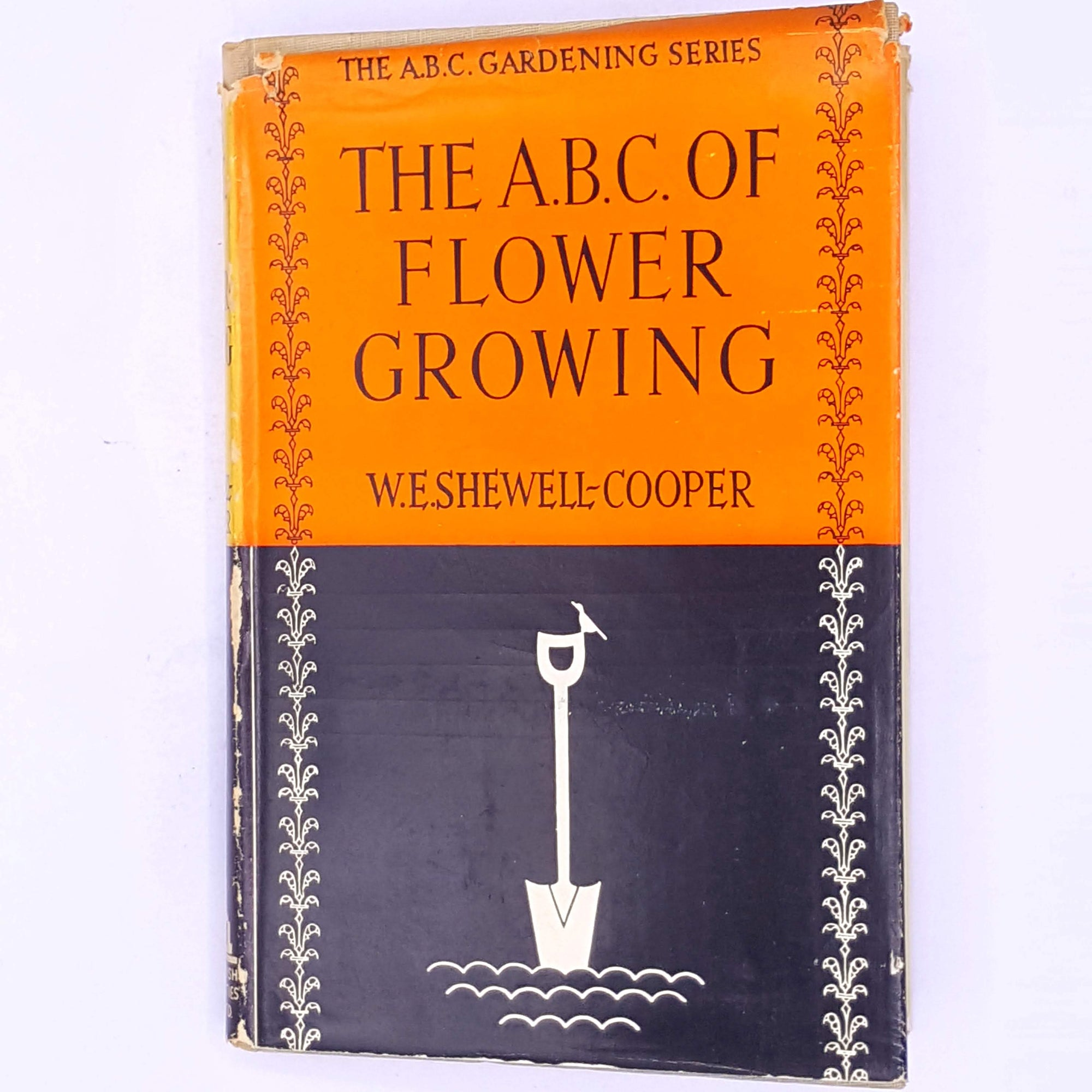 garden-patterned-classic-Gardening-old-thrift-cacti-antique-decorative-The-A.B.C.-Flower-Growing-W.E.Shewell-Cooper-country-house-library-vintage-books-