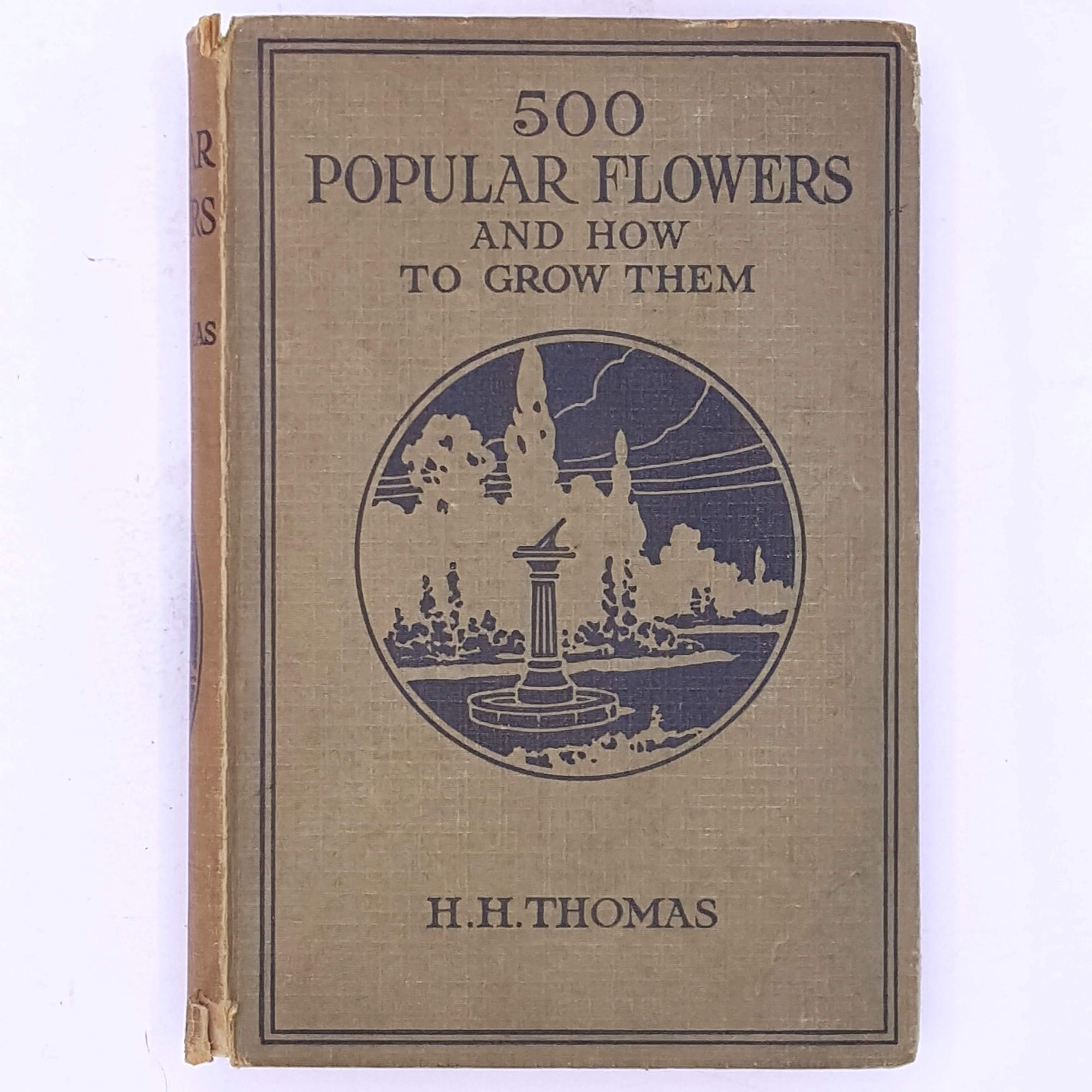 antique-flowers-books-classic-decorative-gardening-illustrated-gardening- thrift-500-Popular-Flowers-and-How-To-Grow-Them-H.H.-Thomas-old-patterned-vegetables-vintage-garden-country-house-library-